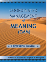 Cover of Coordinated Management of Meaning: A Research Manual